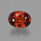 thumb image of 1.2ct Oval Facet Orange Spessartite Garnet (ID: 440219)