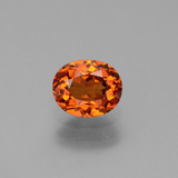 thumb image of 1ct Oval Facet Orange Spessartite Garnet (ID: 440349)