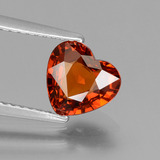 thumb image of 1.6ct Heart Facet Orange Spessartite Garnet (ID: 440356)