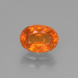 thumb image of 2.3ct Oval Facet Orange Spessartite Garnet (ID: 440433)