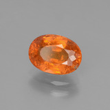 2.34 ct Oval Facet Orange Spessartite Garnet Gem 8.82 mm x 6.4 mm (Photo B)