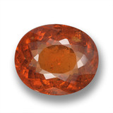 thumb image of 3.7ct Oval Portuguese-Cut Orange Spessartite Garnet (ID: 461368)