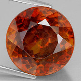 thumb image of 16.4ct Round Facet Red Orange Sphalerite (ID: 219373)