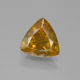 thumb image of 5.6ct Trillion Facet Yellow Golden Sphalerite (ID: 388930)