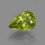 thumb image of 1.9ct Pear Facet Golden Green Sphene (ID: 381592)