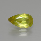 thumb image of 1.6ct Pear Facet Greenish Yellow Sphene (ID: 390440)