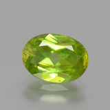 thumb image of 1.9ct Oval Facet Golden Green Sphene (ID: 390819)