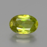 thumb image of 1.8ct Oval Facet Greenish Golden Sphene (ID: 390820)