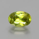thumb image of 1.8ct Oval Facet Golden Green Sphene (ID: 390821)