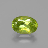 thumb image of 1.3ct Oval Facet Golden Green Sphene (ID: 391235)