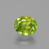 thumb image of 1.3ct Oval Facet Golden Green Sphene (ID: 391237)