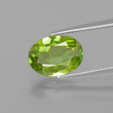thumb image of 2.1ct Oval Facet Golden Green Sphene (ID: 398792)