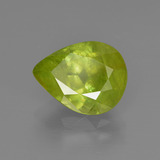 3.09 ct Pear Facet Golden Green Sphene Gem 10.53 mm x 8.1 mm (Photo B)