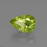 2.07 ct Pear Facet Golden Green Sphene Gem 9.85 mm x 6.8 mm (Photo B)