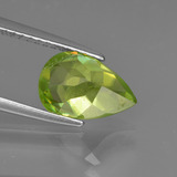 2.07 ct Pear Facet Golden Green Sphene Gem 9.85 mm x 6.8 mm (Photo C)