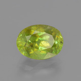 2.31 ct Oval Facet Golden Green Sphene Gem 9.08 mm x 6.7 mm (Photo B)