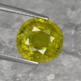 thumb image of 5.3ct Oval Facet Greenish Golden Sphene (ID: 467822)