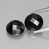 thumb image of 8.4ct Round Rose-Cut Black Spinel (ID: 426459)
