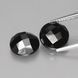 thumb image of 8.6ct Round Rose-Cut Black Spinel (ID: 426462)