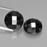 thumb image of 9.2ct Round Rose-Cut Black Spinel (ID: 426506)