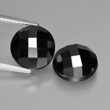 thumb image of 9.2ct Round Rose-Cut Black Spinel (ID: 426513)