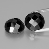 thumb image of 9.1ct Round Rose-Cut Black Spinel (ID: 426555)