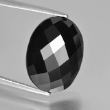 thumb image of 11.1ct Oval Rose-Cut Black Spinel (ID: 426661)