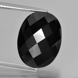 thumb image of 10.3ct Oval Rose-Cut Black Spinel (ID: 426663)