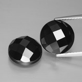 thumb image of 9.6ct Round Rose-Cut Black Spinel (ID: 426708)