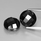 thumb image of 6.5ct Round Rose-Cut Black Spinel (ID: 426711)