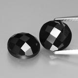 thumb image of 7ct Round Rose-Cut Black Spinel (ID: 426714)