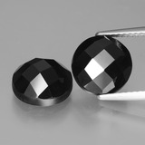 thumb image of 7.4ct Round Rose-Cut Black Spinel (ID: 426719)