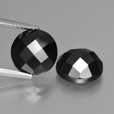 thumb image of 6.6ct Round Rose-Cut Black Spinel (ID: 426753)