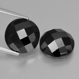thumb image of 9.4ct Round Rose-Cut Black Spinel (ID: 426803)
