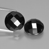 thumb image of 8.6ct Round Rose-Cut Black Spinel (ID: 426927)
