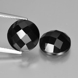 thumb image of 8.6ct Round Rose-Cut Black Spinel (ID: 426929)