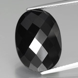 thumb image of 13.9ct Oval Rose-Cut Black Spinel (ID: 438287)