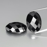 thumb image of 24.6ct Oval Rose-Cut Black Spinel (ID: 438289)