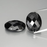 thumb image of 26.1ct Oval Rose-Cut Black Spinel (ID: 438292)