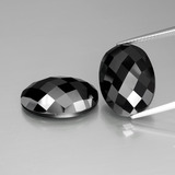 thumb image of 26.2ct Oval Rose-Cut Black Spinel (ID: 438294)
