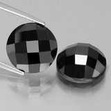 thumb image of 14.9ct Round Rose-Cut Black Spinel (ID: 438373)