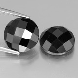 thumb image of 13.5ct Round Rose-Cut Black Spinel (ID: 438379)