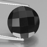 thumb image of 7.5ct Round Rose-Cut Black Spinel (ID: 438429)
