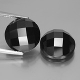 thumb image of 15.3ct Round Rose-Cut Black Spinel (ID: 438432)
