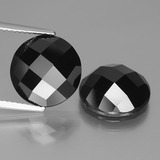 thumb image of 12.1ct Round Rose-Cut Black Spinel (ID: 438439)
