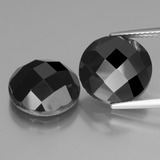 thumb image of 15.3ct Round Rose-Cut Black Spinel (ID: 438490)
