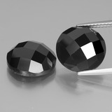 thumb image of 12.6ct Round Rose-Cut Black Spinel (ID: 438498)