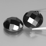 thumb image of 15.2ct Round Rose-Cut Black Spinel (ID: 438500)