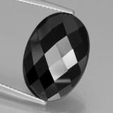 thumb image of 12ct Oval Rose-Cut Black Spinel (ID: 438626)
