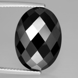 thumb image of 15.4ct Oval Rose-Cut Black Spinel (ID: 438627)